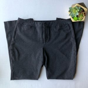 NYDJ Petite Slim Trouser Pant Heathered Charcoal